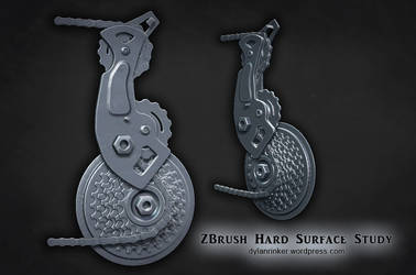 ZBrush Hard Surface Study - Bike Chain and Gears by Stoop--Kid