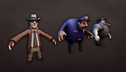 Public Enemies - UDK Project - Character Models by Stoop--Kid