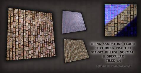 Tiling Sandstone Floor - Texturing Practice by Stoop--Kid