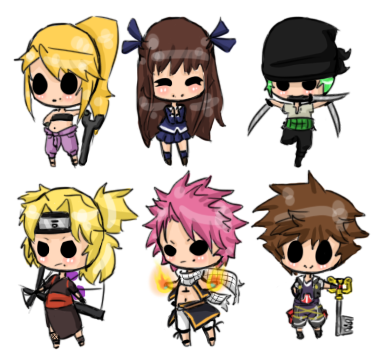 Chibi Batch 1 by Scarydestiny