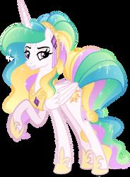 Crystal Princess Celestia (no crystal) by Orin331