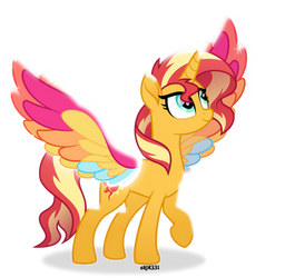 Rainbow Wings Sunset Shimmer by Orin331