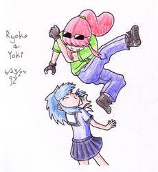 Ryoko and Yoki by kiki-isbeing-purples