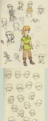 Link Doodles by kiki-isbeing-purples