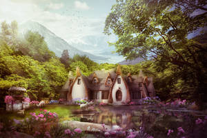 Valley with pond of wish by jasminira