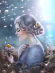 Divination on a daisy by jasminira