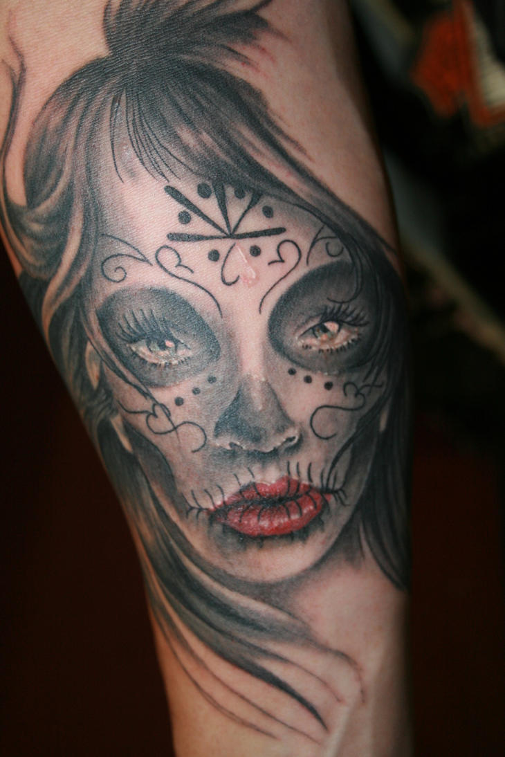 Day Of The Dead Portrait 1 by MeghanBeth