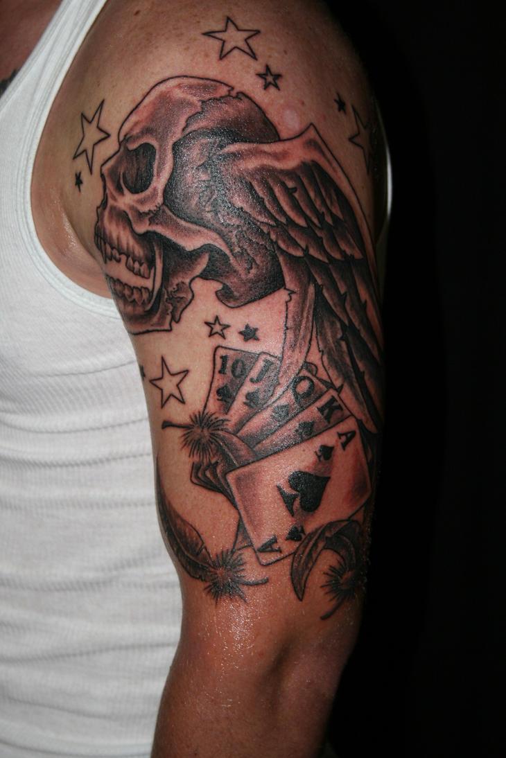 Half Sleeve Chest Tattoo Design