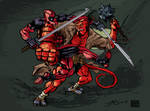 Deadpool VS Hellboy color