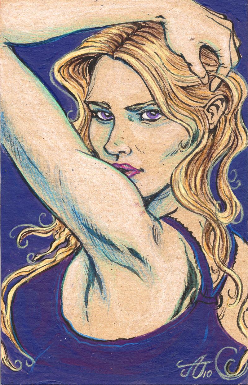 Violet Looker Atomic Sketch by Mortal-Mirror