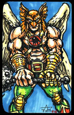 Hawkman Ink/Marker Sketch