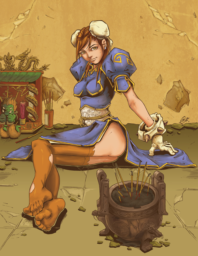 Chun li chillin by AlivanArt