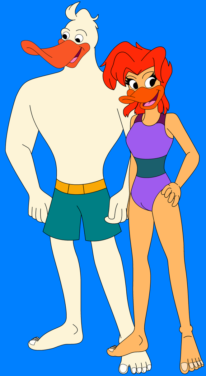Wildwing And Mallory In Their Swimsuits by HannahBro