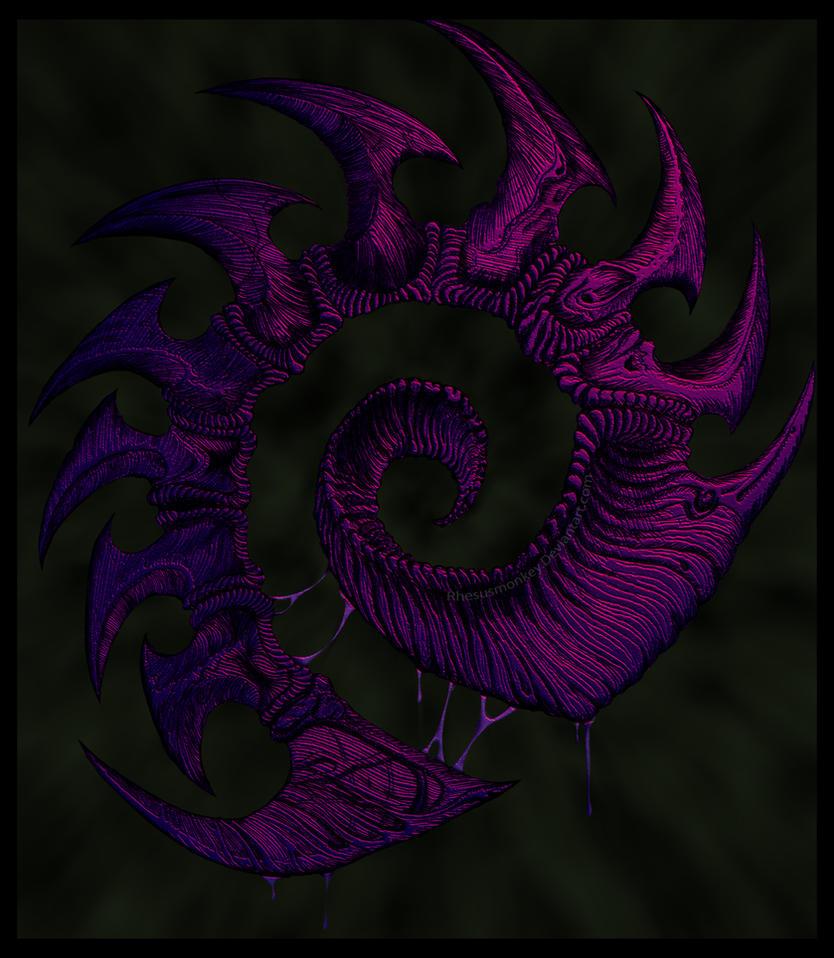 Starcraft 2 Zerg Logo By Rhesusmonkey On Deviantart