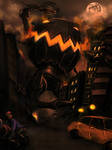 Halloween in the city by whiteguardian