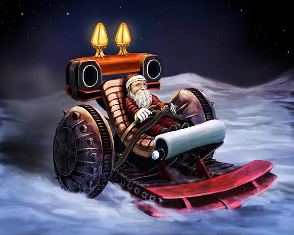 Santa Sleigh by whiteguardian