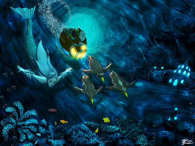 Christmas Underwater by whiteguardian