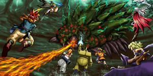 Battle against Lavos