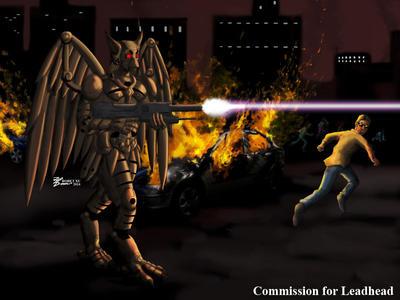 COM : Terminator Gryphon by whiteguardian