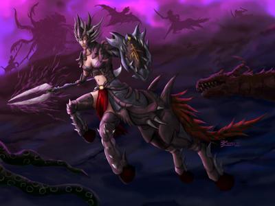 Heroine Magic Centaur by whiteguardian