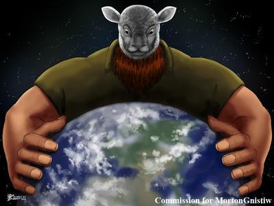 COM : Erick Rowan Crushing the Earth by whiteguardian