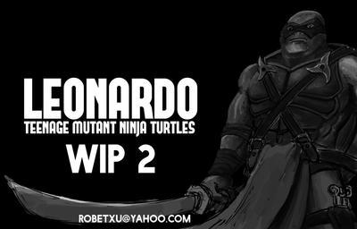 Leonardo (TMNT - WIP 2) by whiteguardian