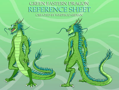 Green Eastern Dragon Reference Sheet