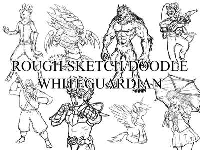 Rough Sketch or Doodle Samples by whiteguardian