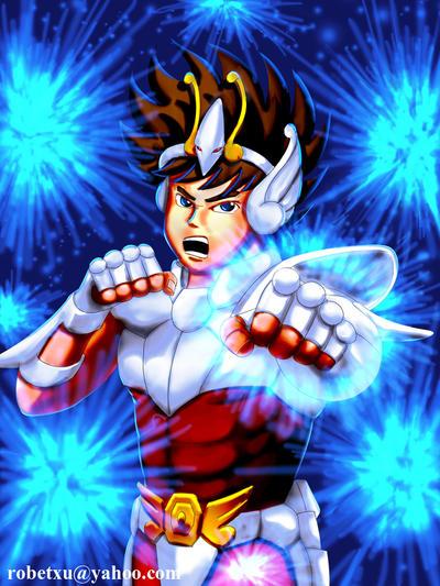 Pegasus Seiya by whiteguardian