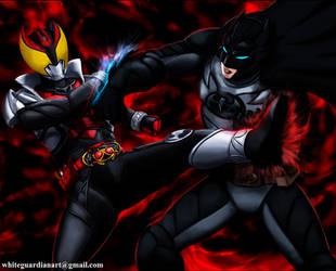 Batman vs Kiva scene 4 END by whiteguardian
