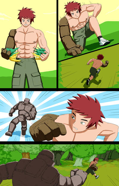 Mike into Golem TF Comic page 7 by whiteguardian