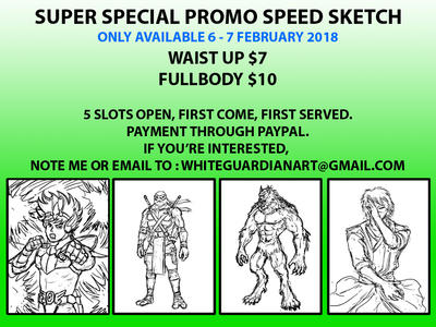 Super Special Promo Speed Sketch by whiteguardian