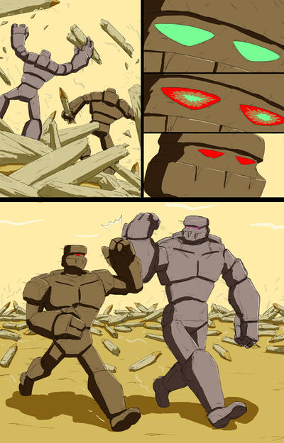 Mike into Golem TF Comic page 28 END by whiteguardian
