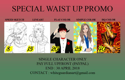Special Waist Up Promo by whiteguardian