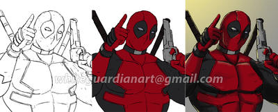 Deadpool WIP by whiteguardian