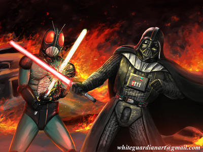 Black RX vs Darth Vader by whiteguardian