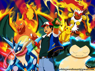 Pokemon Beat Them All Poster by whiteguardian