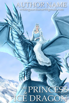 001 The Princess and Ice Dragon Premade Book Cover