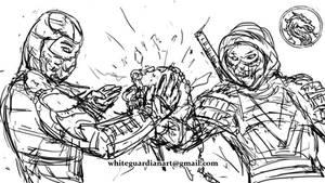 Sub Zero vs Scorpion Speed Sketch