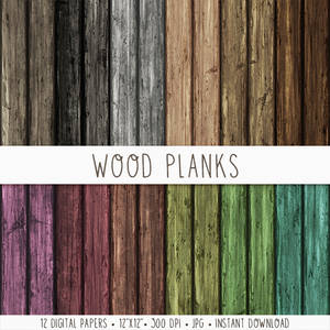 Wood Planks Digital Paper