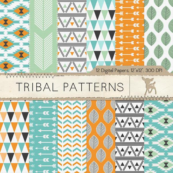 Tribal Patterns Digital Scrapbook Paper By Mydearmemories On Deviantart