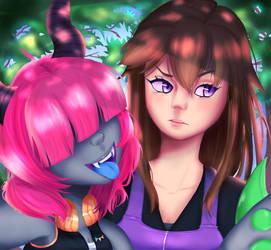 Paradigm and Yukine Selfie