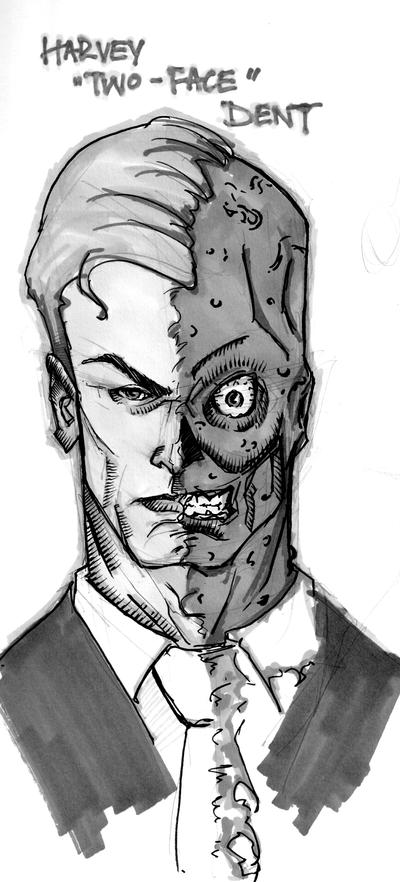 Harvey Two Face Dent by Sebastian-Chow
