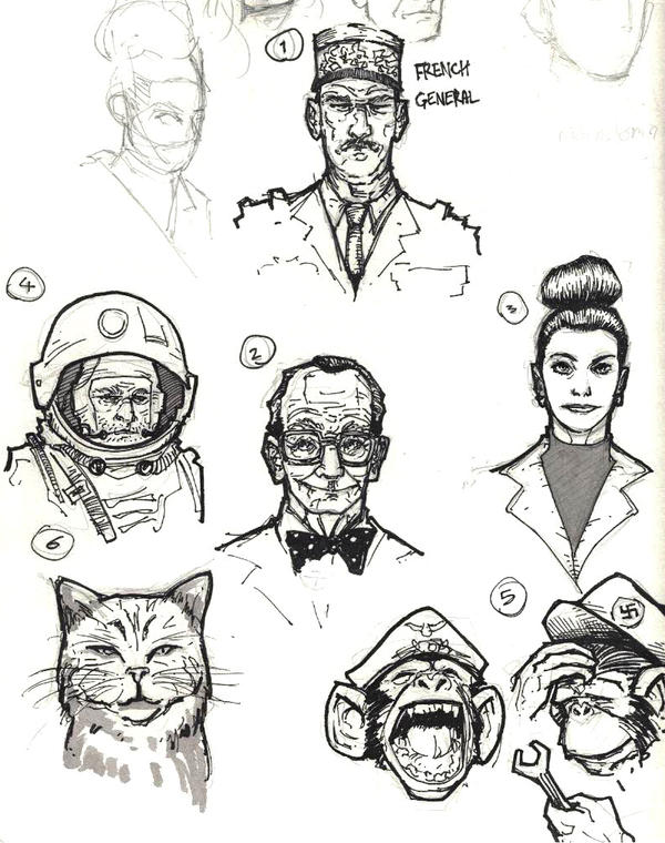 Character sketches for my new Comic! by Sebastian-Chow