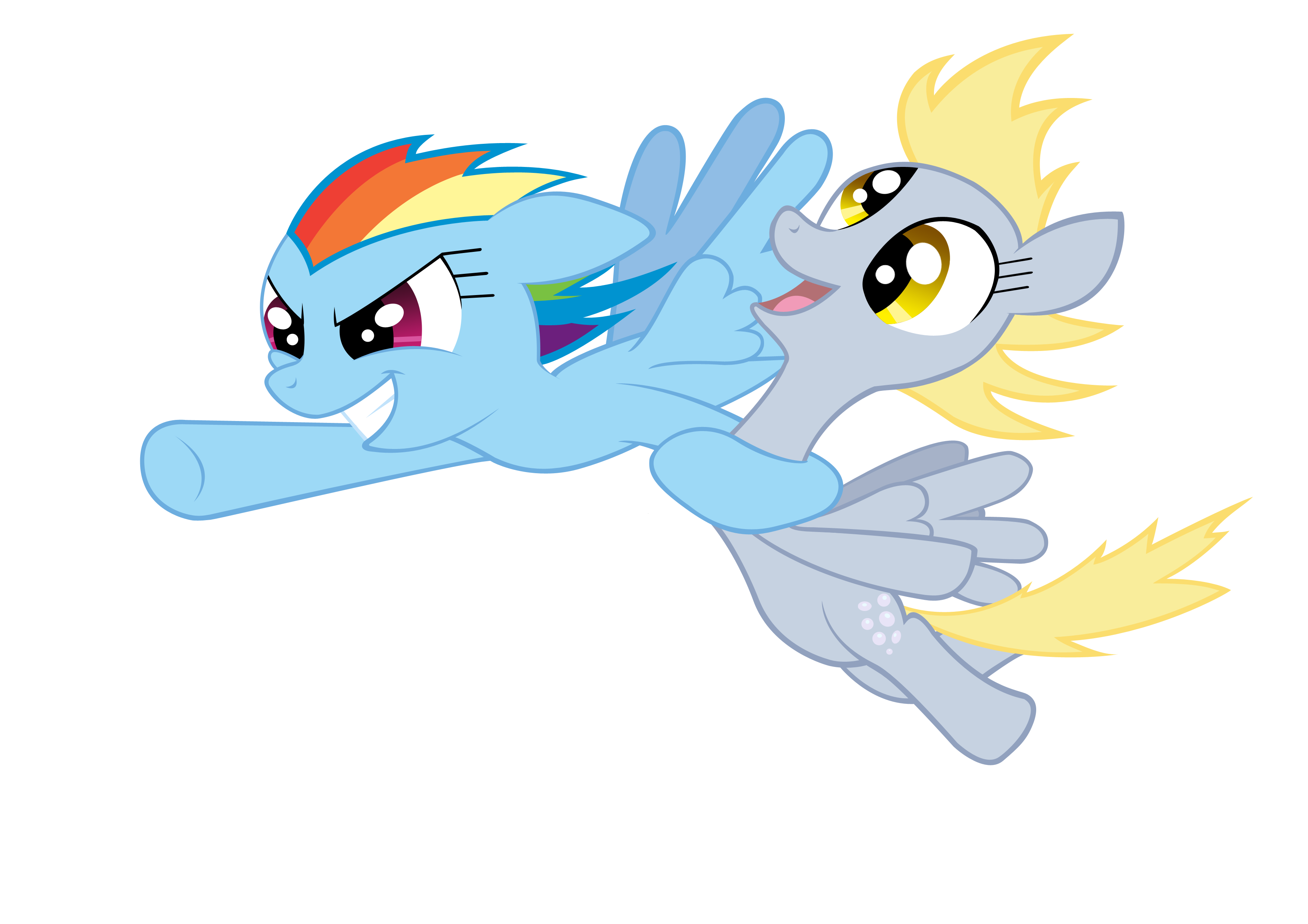 Rainbow Dash and Derpy by akeel465 on DeviantArt  Filly Rainbow Dash And Derpy