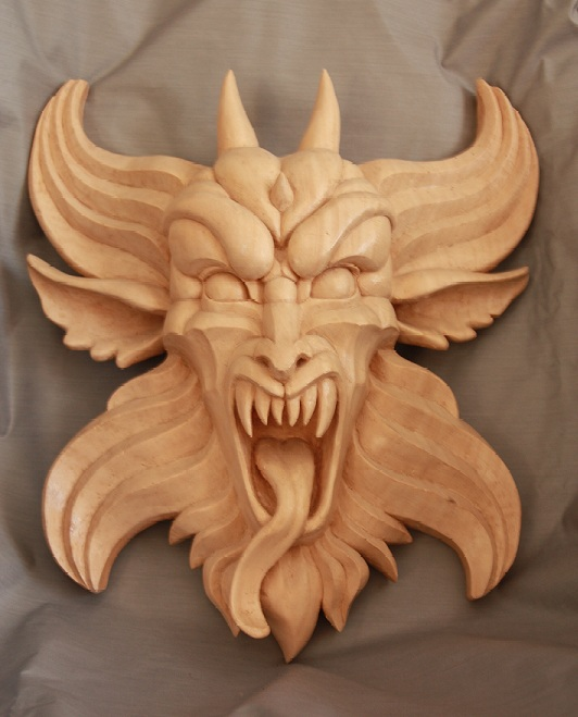 Wood carved gargoyle by mouser on deviantart