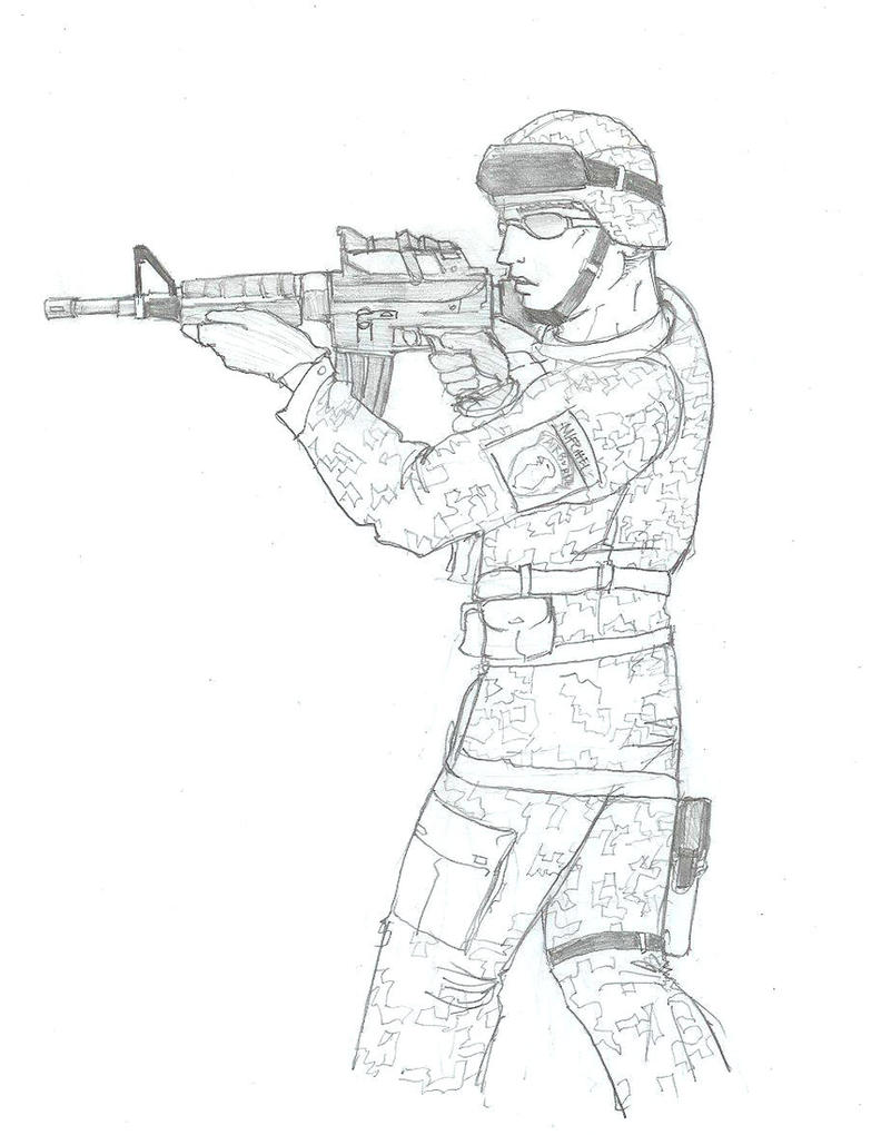 US Army Soldier Sketch. by Daimoth on DeviantArt