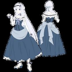 Kuroshitsuji OC Angel - Main Outfit (SKETCH) by AnimeRPer1998