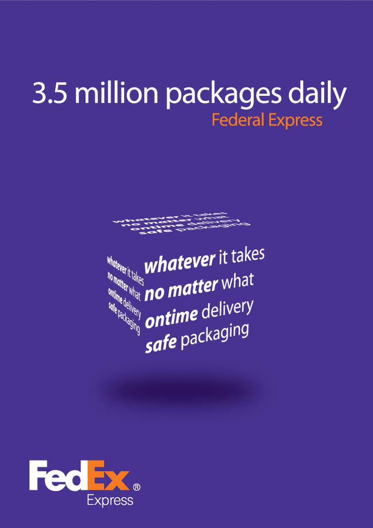 an introduction to the fedex advertisement in todays society Influence of advertisement on women & the attitude toward cosmetics chroncom/influence-advertisement-women-attitude-toward-cosmetics-69974 today's.