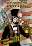 Steampunk Lincoln poster